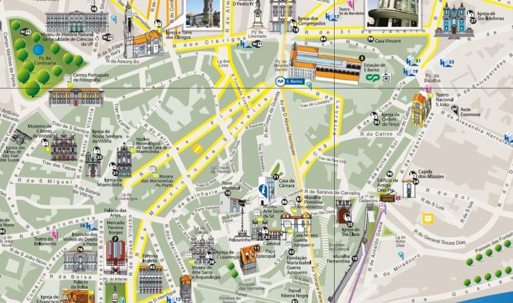 mapa san bento - catedral